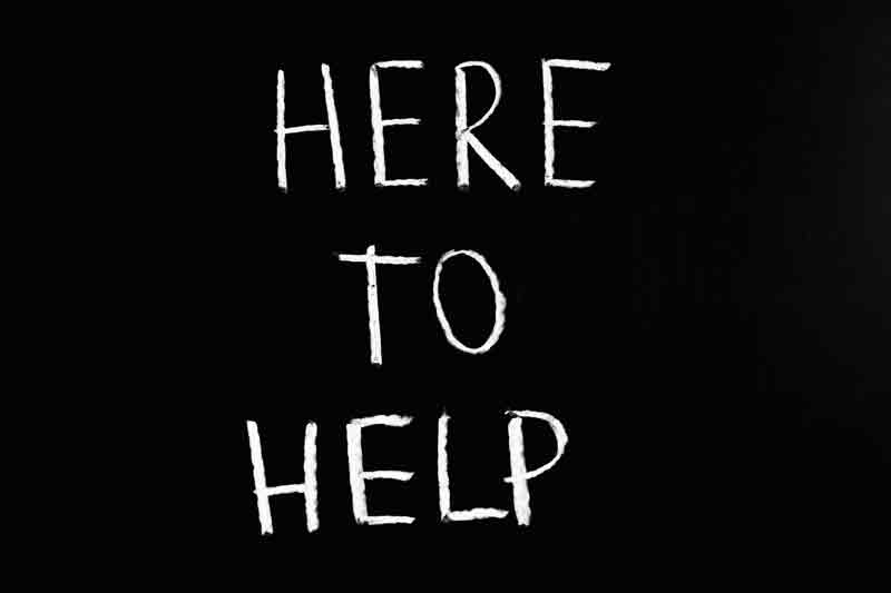Here to help.